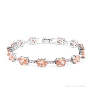 Simulated Champagne and White Diamond Bracelet